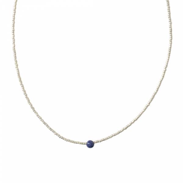 Flora Lapislazuli Silber Halskette