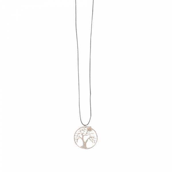 Lively Labradorite Tree Silver Necklace