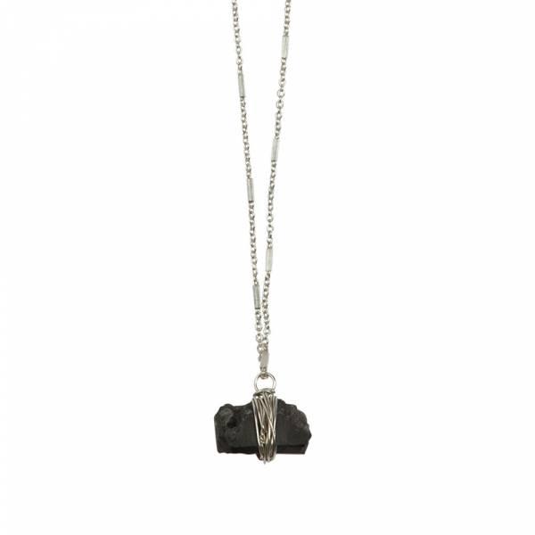 Passion Schwarzer Onyx Silber Halskette