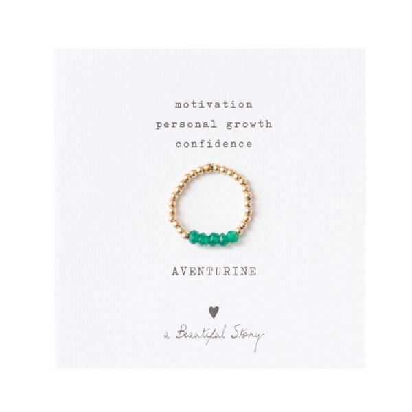 Beauty Aventurine Gold Ring M/L