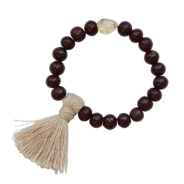 Gypsy Citrine Rose wood bracelet