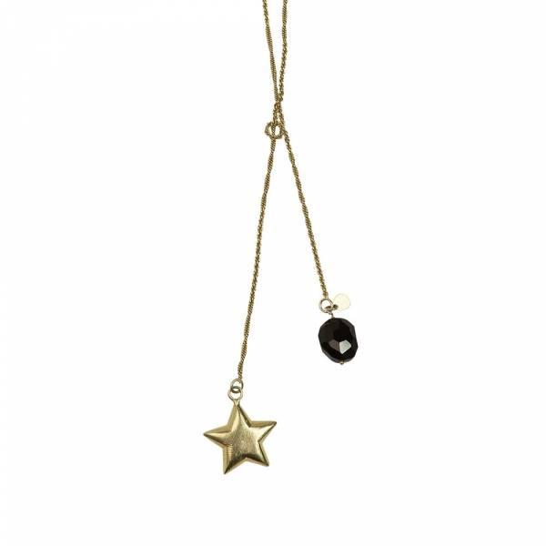 Magic Zwarte Onyx goud ketting