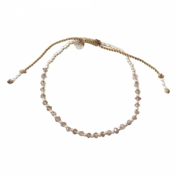 Beautiful Rookkwarts Zilver Armband
