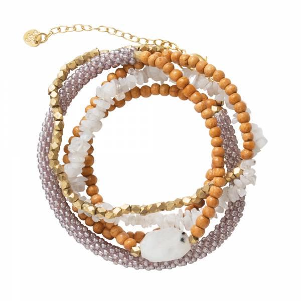 Superwrap Moonstone Gold Bracelet