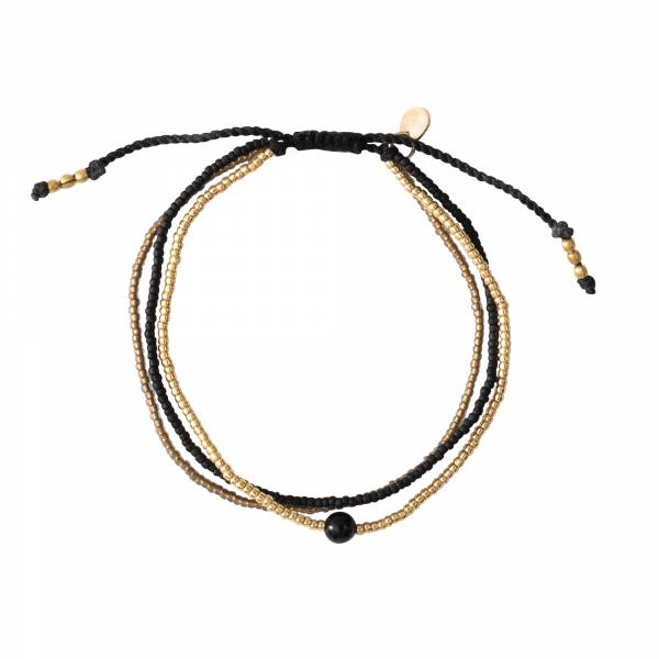 Bloom Black Onyx Gold Bracelet