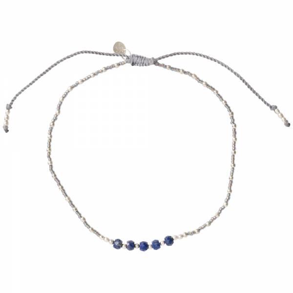 Confetti Lapis Lazuli Silver Anklet