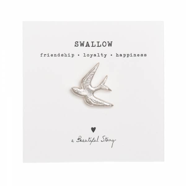 Brooch Swallow Silver