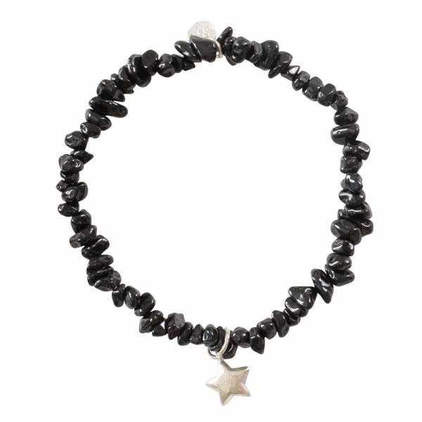 Power Black Onyx Star Silver Bracelet