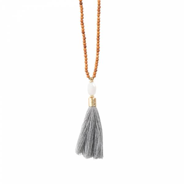 Mala Moonstone Gold Necklace