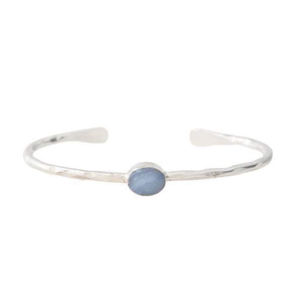 Moonlight Blue Lace Agate Silver bracelet