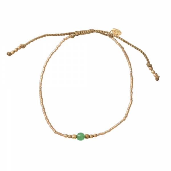 Iris Aventurijn Goud Armband