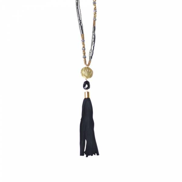 Easy Schwarzen Onyx Halskette