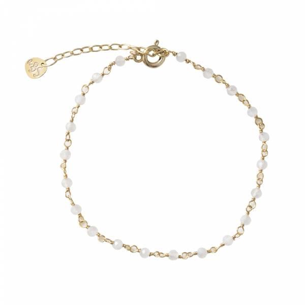 Harmony Mondstein Sterlingsilber vergoldete Armband