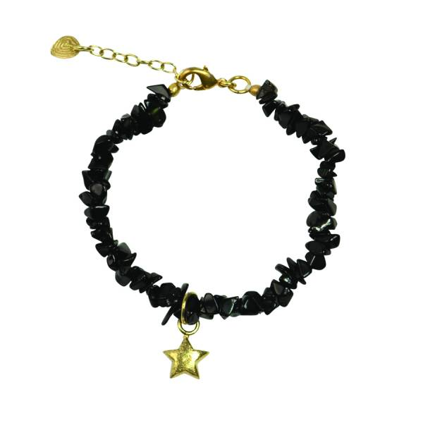 Power Black Onyx star gold bracelet