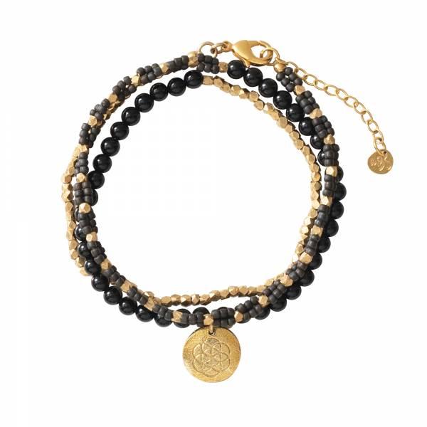 Dazzle Black Onyx Gold bracelet