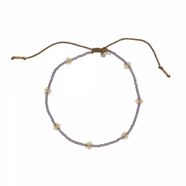 Daisy Moonstone Gold Anklet