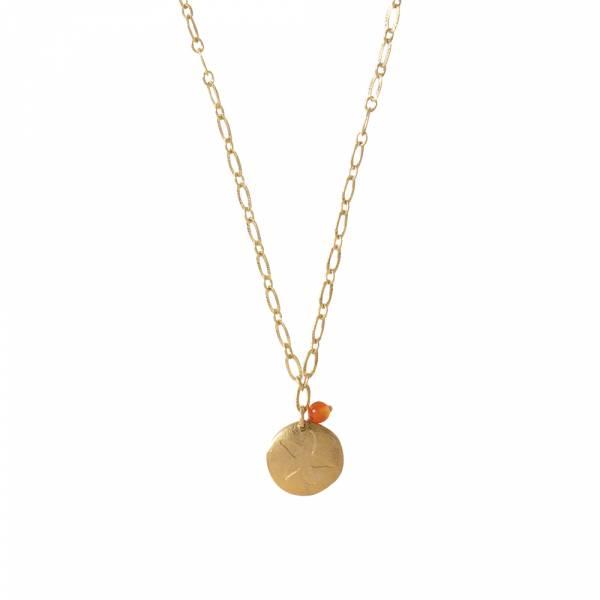 Rose Carnelian Gold necklace