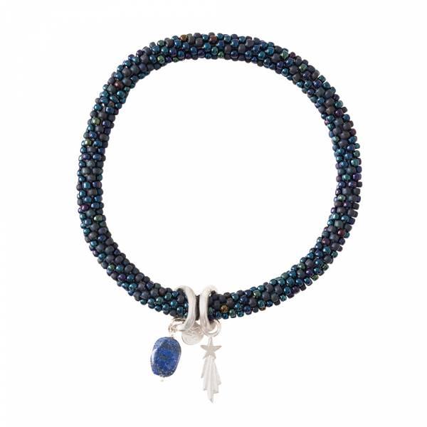 Jacky Multi Color Lapis Lazuli Silver Bracelet