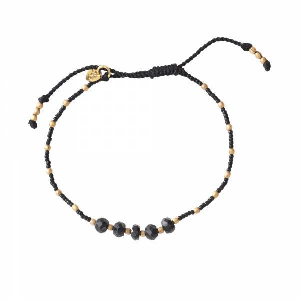 Family Black Onyx Gold bracelet
