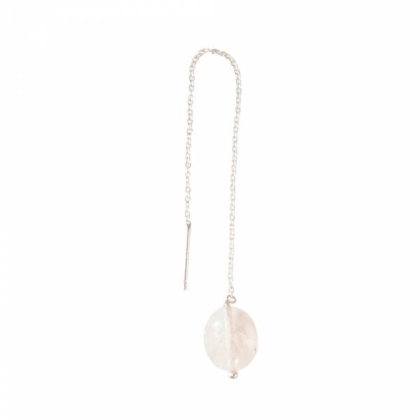 Elegant Rose Quartz Sterling Silver Earring