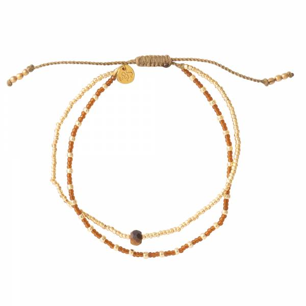 Friendship Tiger Eye Gold bracelet