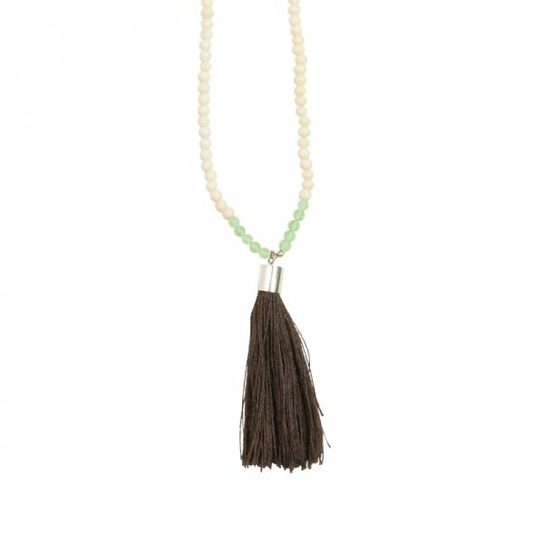 Mala Aventurine white bone necklace