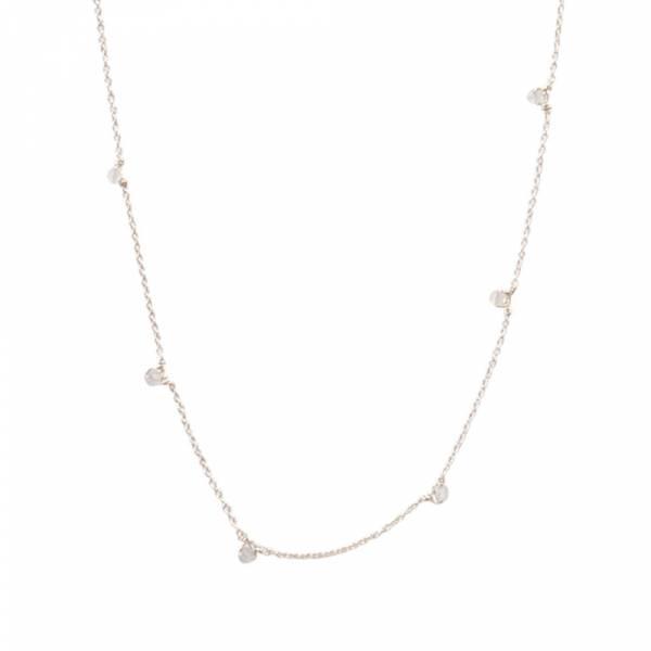 Mini Rosenquarz Sterlingsilber Halskette Halskette