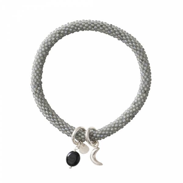 Jacky Multi Color Schwarzer Onyx Silber Armband