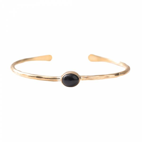 Moonlight Black Onyx Gold Bracelet