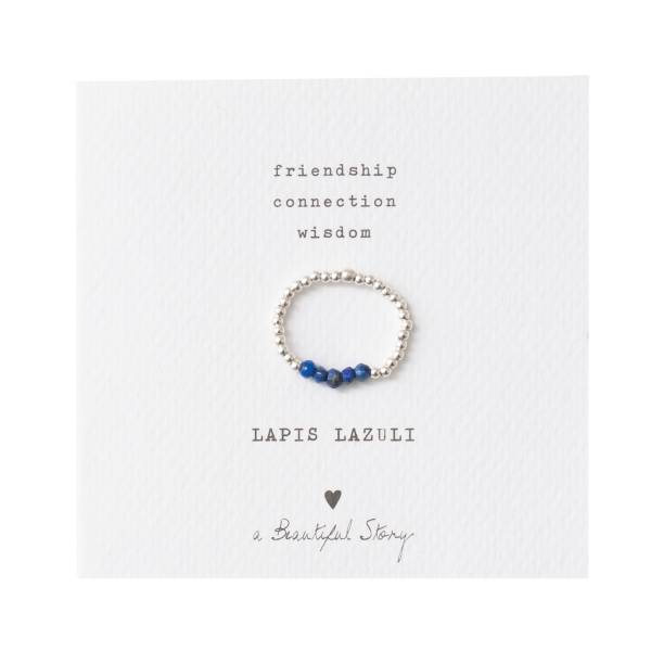 Beauty Lapislazuli Silber Ring M/L