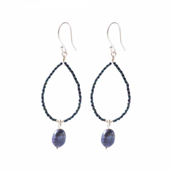 Magical Lapis Lazuli Silver Earrings