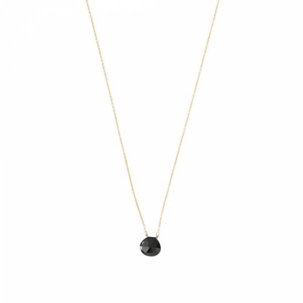 Divine Black Onyx Gold Necklace