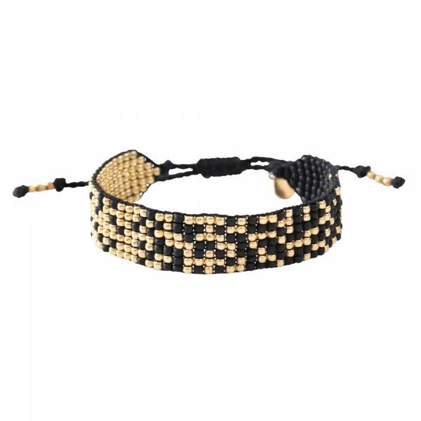 Treasure Zwarte Onyx Goud Armband