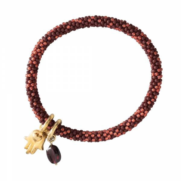 Jacky Multi Color Garnet Gold Bracelet