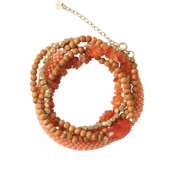 Superwrap Carnelian Gold bracelet