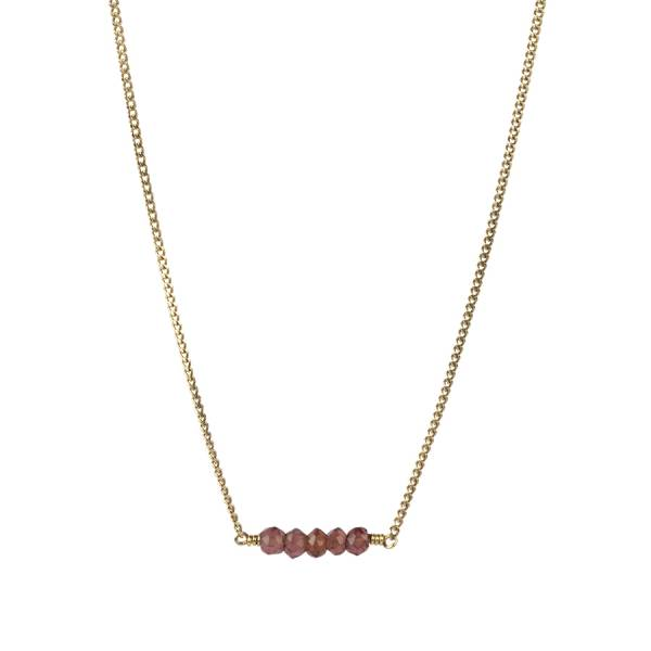 Petite Garnet Sterling Silver Gold-plated Necklace