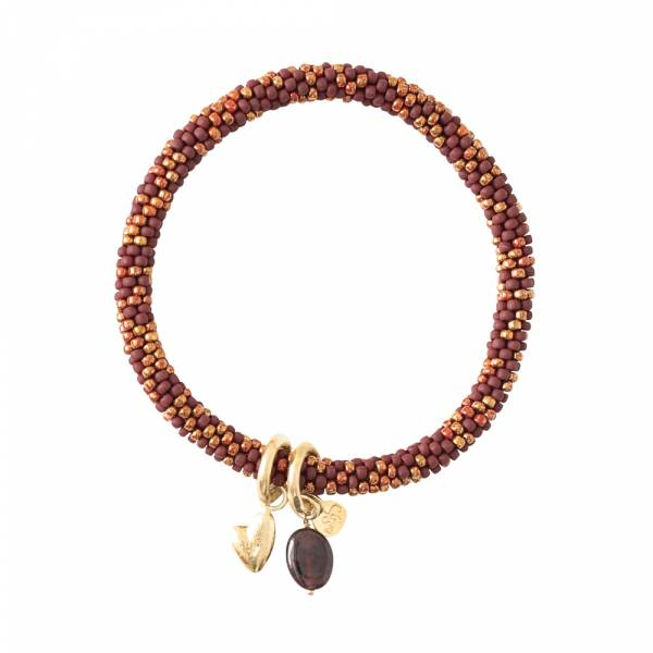 Jacky Multi Color Garnet Gold Bracelet
