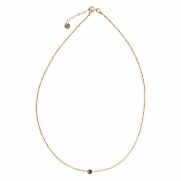 Flora Garnet Gold Necklace