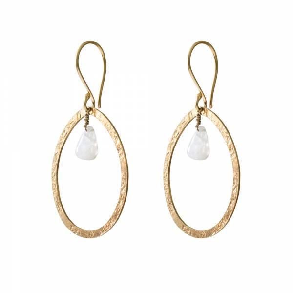 Powerful Moonstone Gold earrings