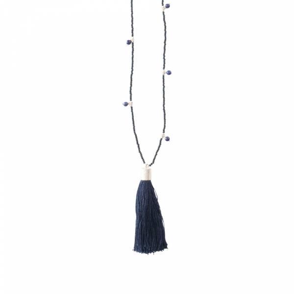 Luminous Lapis Lazuli Silver Necklace