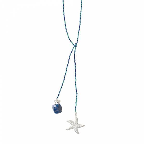 Nova Lapislazuli Silber Halskette