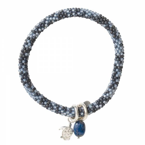 Jacky Multi Color Lapislazuli Silber Armband