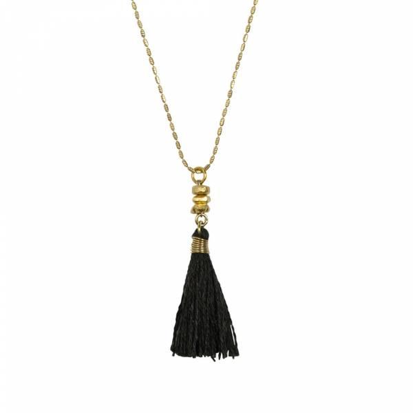 Miracle schwarz Gold Halskette