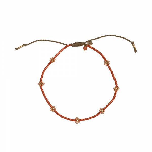 Daisy Carnelian Gold Anklet