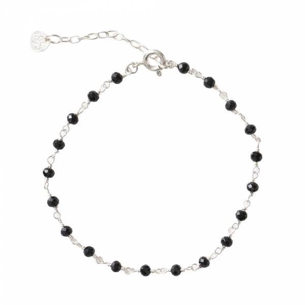 Harmony Zwarte Onyx Sterling Zilver Armband