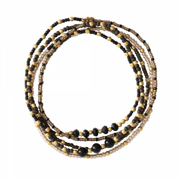 Together Black Onyx Gold Bracelet
