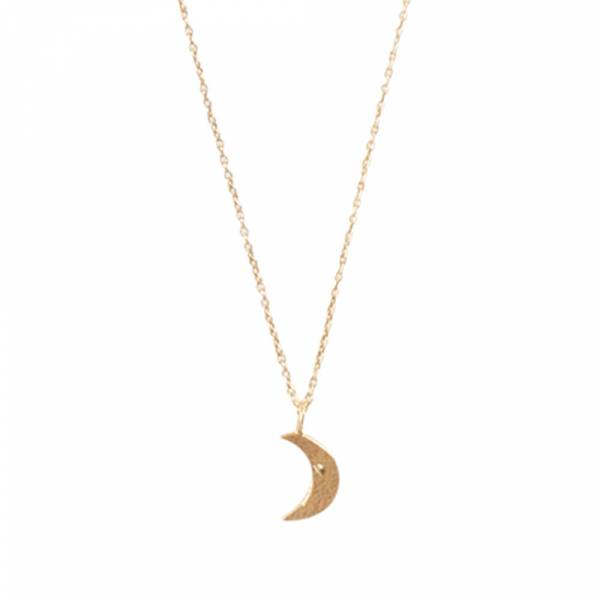 Delicate Moon Sterling Silver Gold-plated Necklace