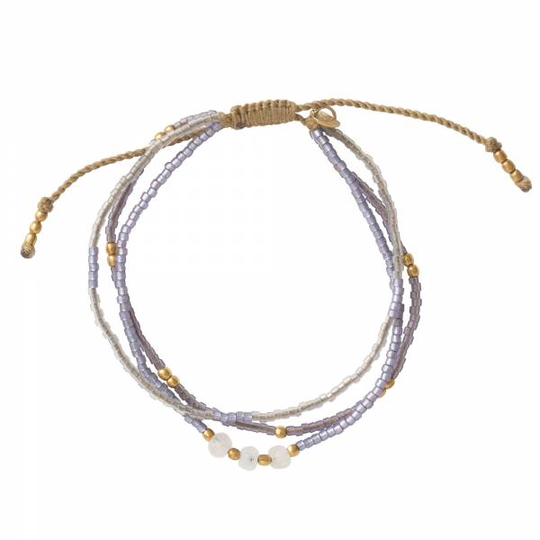 Gentle Moonstone Gold Bracelet