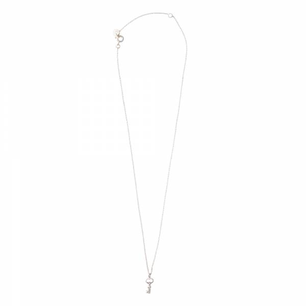 Delicate Key Silver Necklace