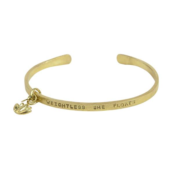 Pure lotus gold bracelet